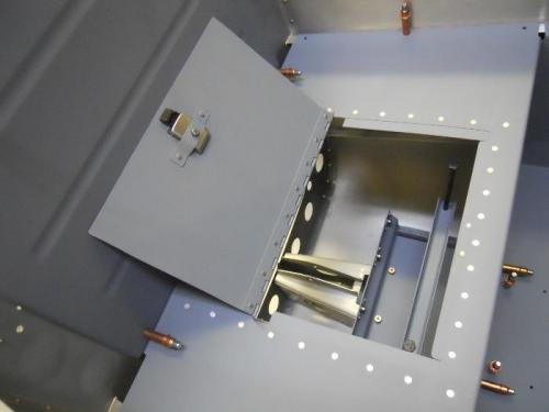 Battery access hatch open
