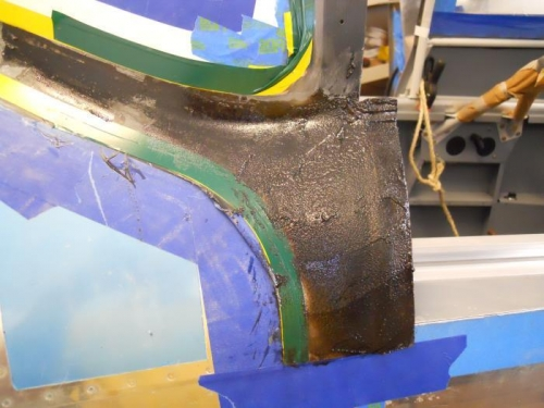 Resin/flox on lower fairing