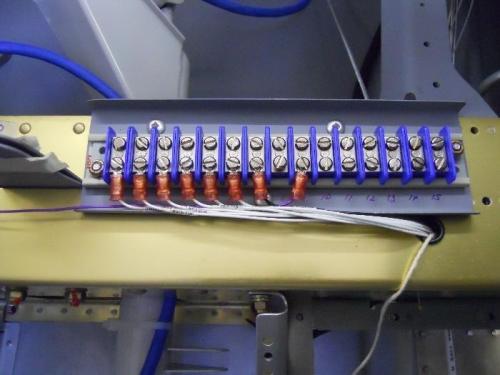 Terminal strip wiring
