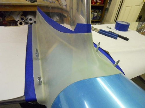 First 4 holes drilled in fairing