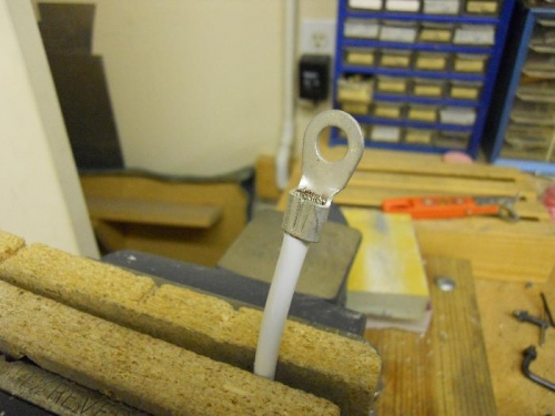 Lug crimped-ready for solder