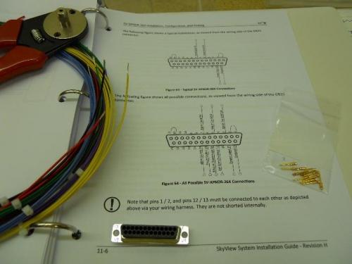 Start of transponder wire harness