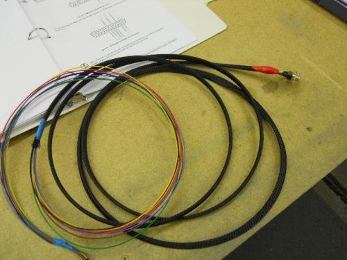 Pulled wire thru snakeskin