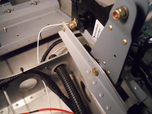 Bell crank pivot bolt installed