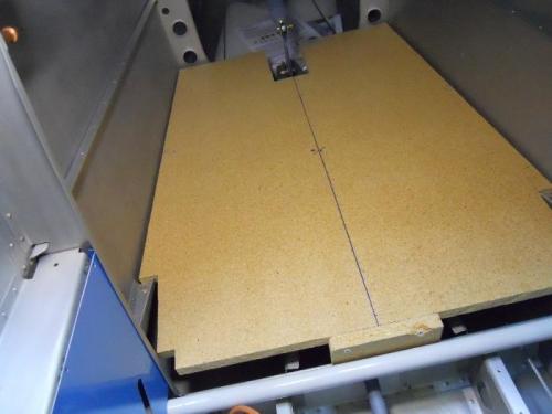 Backboard installed in fuse