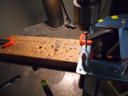 Match drilling doubler to baffle