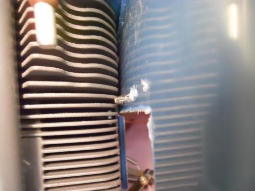 Lower inboard nutplate hits fin