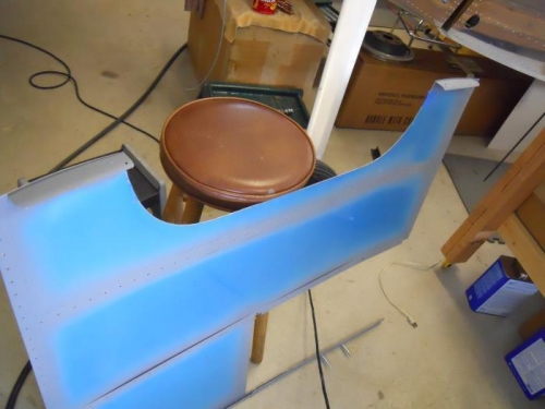 L & R support ribs riveted to skin