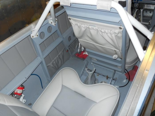 Seat, with pouch installed