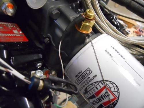 Temp sensor & L mag wires