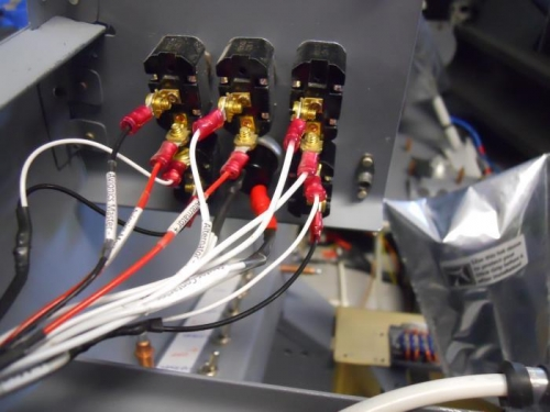 Mag wires terminated to toggle switches