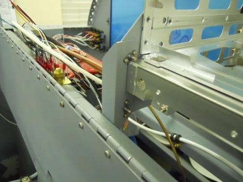 Bracket attached to radio stack