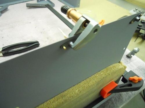 Adding nutplates to the forward seat ramp