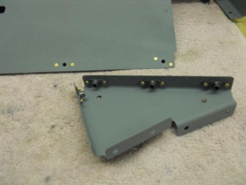 All nutplates riveted to seat ramp and ribs