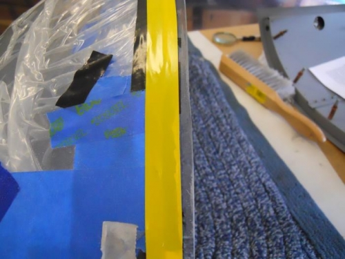 Plexi to edge of tape needs to be cut-about .17