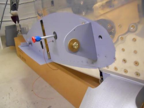 Tank attach bracket installed