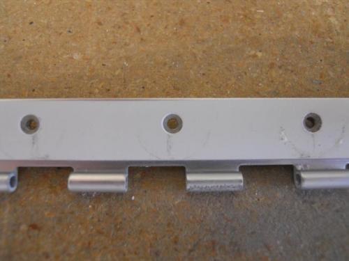 Machine c/s holes in spacer strip
