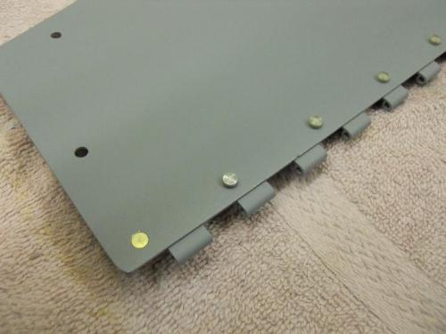 Flush rivet on end of door