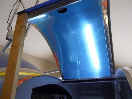 Inner skin riveted and door re-installed