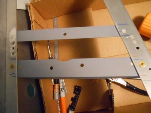 Angles riveted & screwed in place