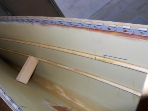 Rods glued inside L. tip