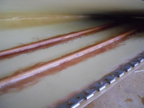 Rods glassed in