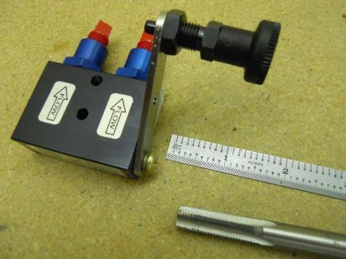 Brake lock plunger installed