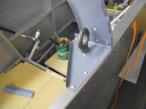 Gussets riveted in-tie down attachments riveted