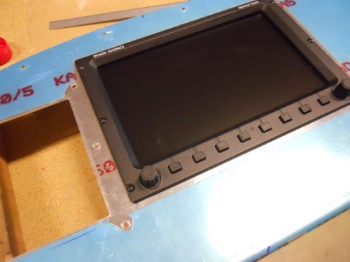 Screen with panel holes drilled