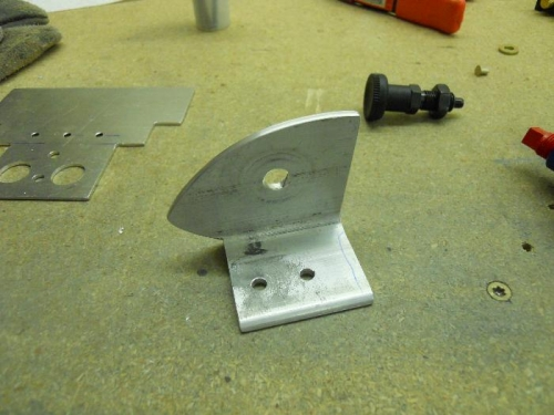 Final shape of bracket to hold plunger lock