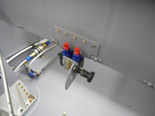 Parking brake with lock installed
