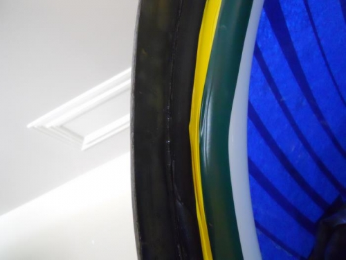 Glass on underside of fairing