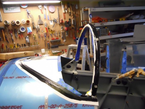 Applied primer to roll bar
