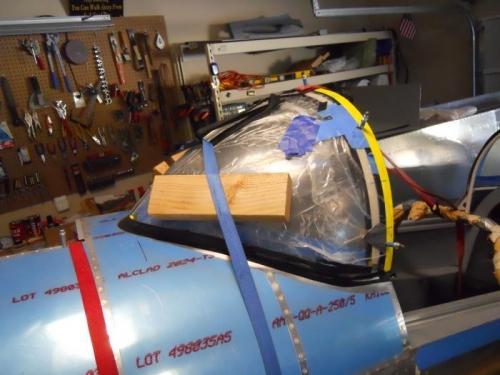 Sika goop injected, windscreen secured