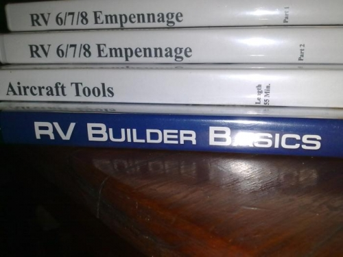 Empennage building DVD's etc