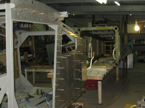 Port side rear drilled