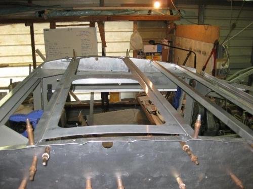 Skylight framework in place