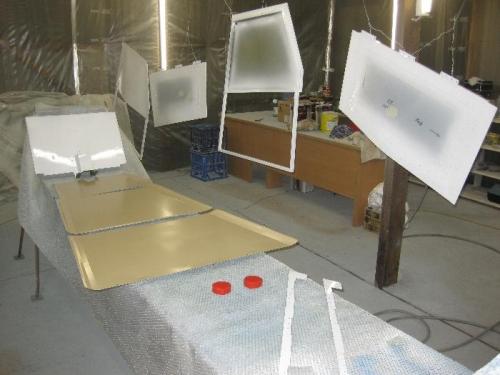 Doors & cargo bay flooring painted