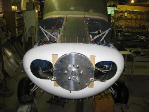 Top centre cowl plate in place