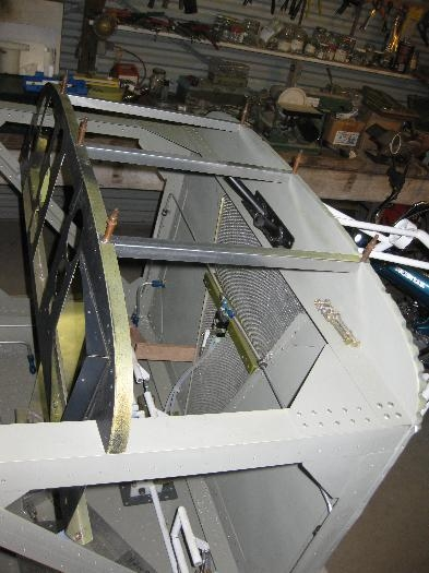 Instrument panel in final position