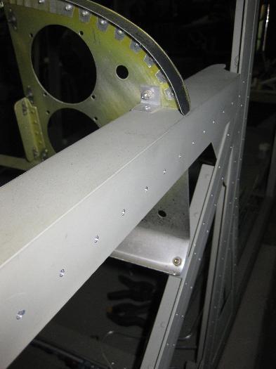 Panel securing bolts left side.