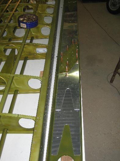 Re-inforcing plates inside the front spar.