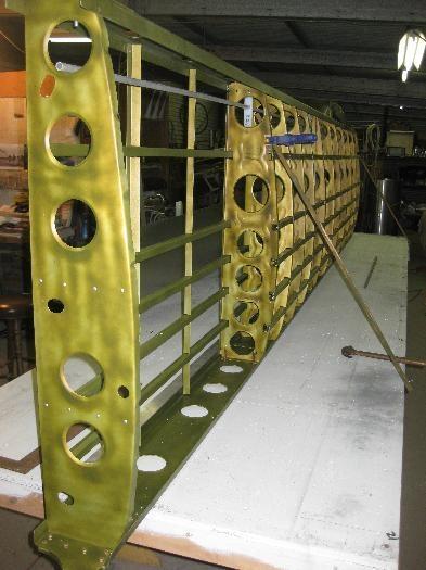 Framework set up on front spar.