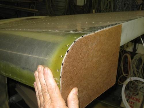 Template of the fuselage corner