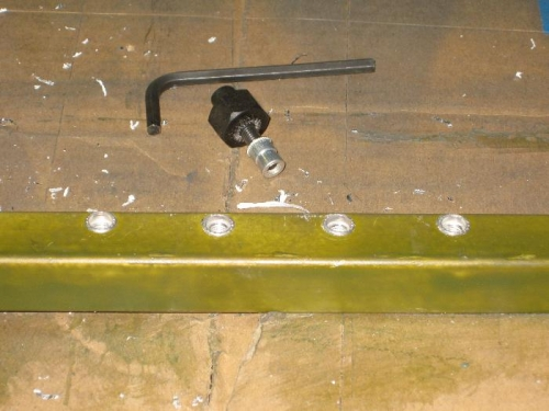 Nut sert for screw attching hinges