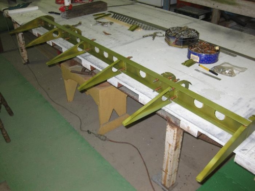 Aileron frame held in clekos