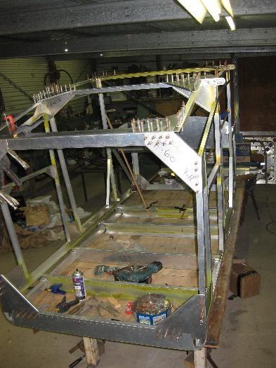 Rear cabin framework