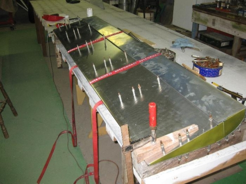Final Assembly of left aileron