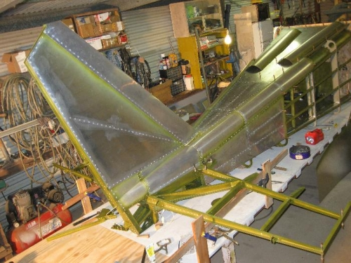 Starting on the final assembly of the horizontal stab framework.