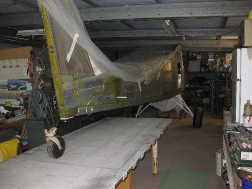 Back inside ready for engine fitting & cowls.